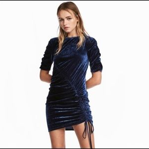 Blue Velvet Dress H&M